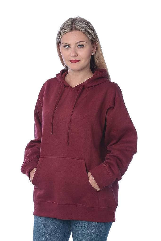 Beverly Rock Women's Plus Size Active Fleece Pullover Hooded Sweatshirt