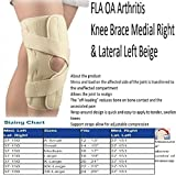 22e9256ce6 9 · Fla 37-151SMBEG OA Arthritis Knee Brace for Right & Lateral Left, Beige,