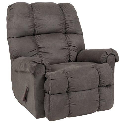 Flash Furniture Riverstone Sierra Graphite Microfiber Rocker Recliner - RS-100-07-GG