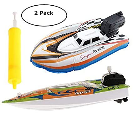 Amazon Com Top Race Pack Of 2 Inflatable Racer Boats 1 X Battery