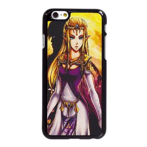 W8M72 princesse Zelda The Legend of Zelda S8K1DM coque iPhone 6 Plus de 5,5 pouces cas de couverture de téléphone portable coque noire HX1NDR7XQ