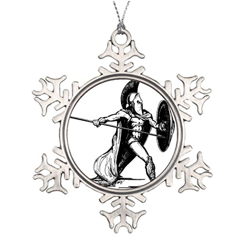 Darlingz Ideas For Decorating Christmas Trees Fun Spartan Soldier Family Christmas Snowflake Ornaments