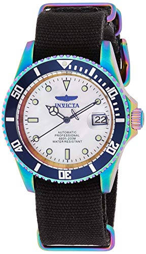 Invicta Men's Pro Diver Stainless Steel Automatic-self-Wind Watch with Nylon Strap, Black, 22 (Model: 27632)