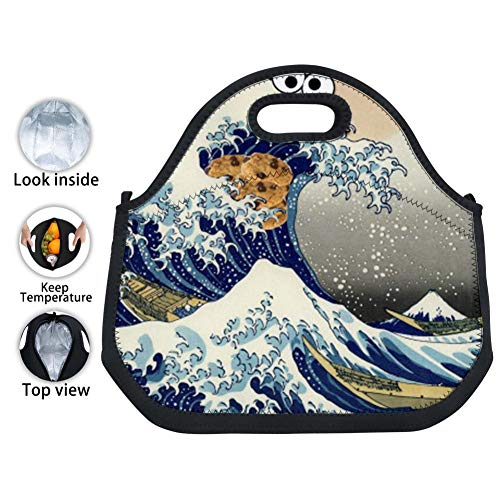 CICICCO Cookie Monster Wave Work Office Picnic Travel Lunch Bags Waterproof Durable Insulated Lunch Tote Boxes
