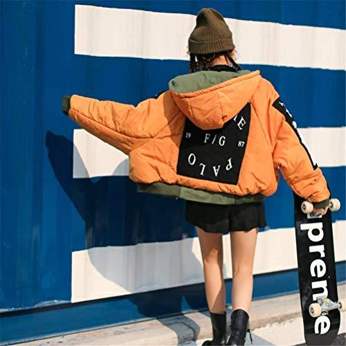 Classiche Grün Donna Invernali College Cappotto A Bomber Autunno Caldo Donne Giacca Giovane Trapuntata Jacket Giaccone Chiusura nbsp; Cerniera Laisla Fashion Leggero Unisex Biker Outdoor Moda qX4twSUa