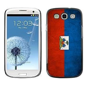 Shell-Star ( National Flag Series-Haiti ) Snap On Hard Protective Case For Samsung Galaxy S3 III / i9300 i717