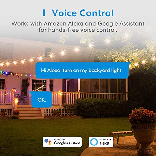 meross Outdoor Smart Plug, Outdoor Wifi Outlet with 2 Grounded Outlets, Remote Control, Timer, Waterproof, Works with Amazon Alexa, SmartThings and Google Assistant, FCC Certified