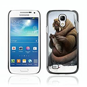 Designer Depo Hard Protection Case for Samsung Galaxy S4 Mini / Walrus Warrior & Fish