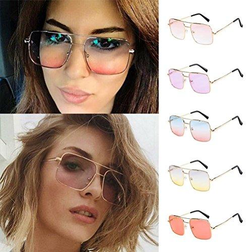 Sol Grandes de Parte Superior de de de Lentes lujosas de Gafas Turquía con Tamaño y Aviador F D Marco Plana Espejo Gran 7z5Caqxw