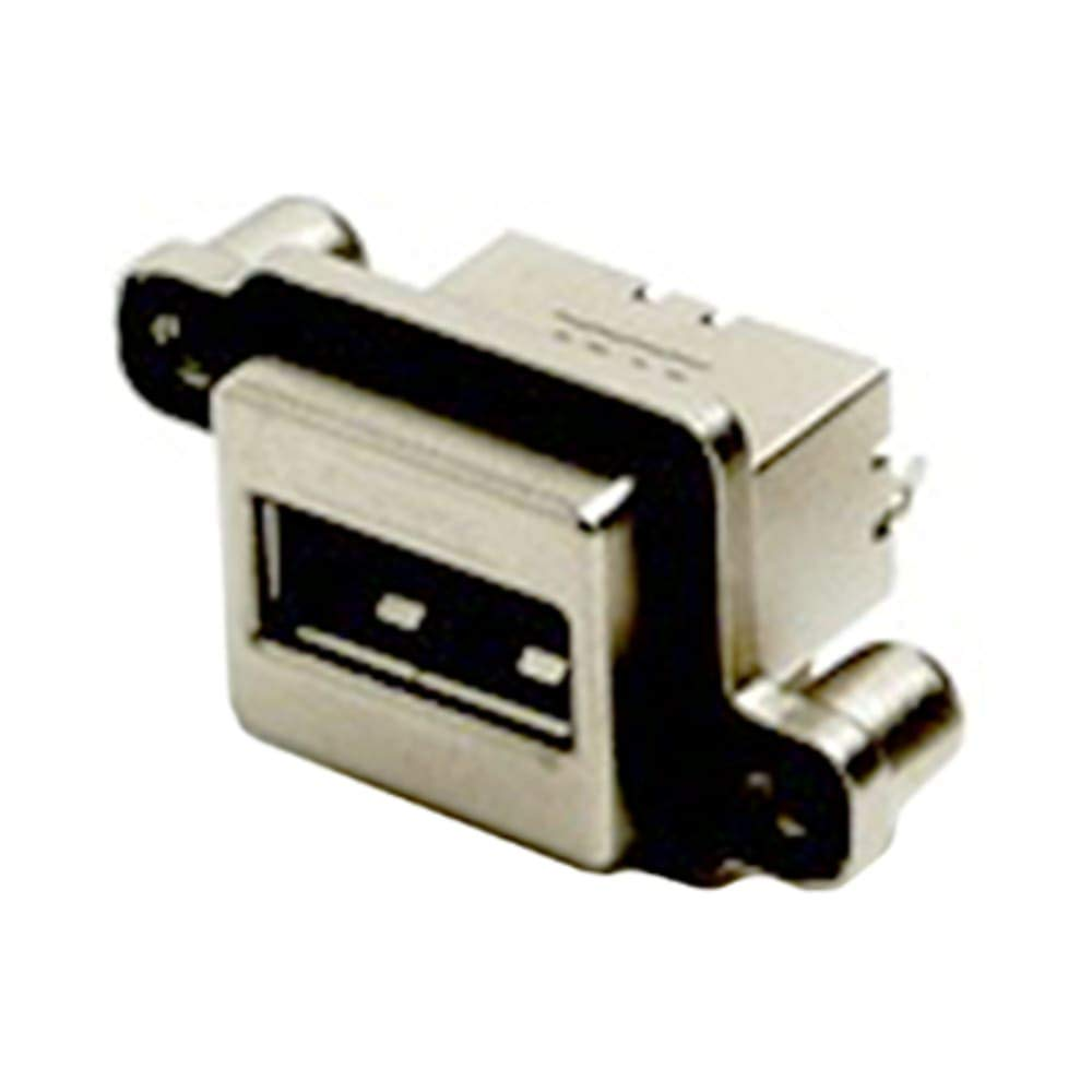 connector; usb receptacle; type a; single port; right angle; pcb mount, Pack of 2