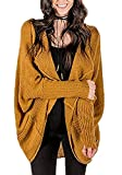 JOYCHEER Womens Oversized Cardigans Boyfriend Open Front Dolman Sweaters with Pockets