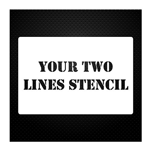 2 Line Custom Stencil 12x24 - Custom Laser Cut - Anything You Want - Strong Polyester Mil 10 - US Made (12X24)