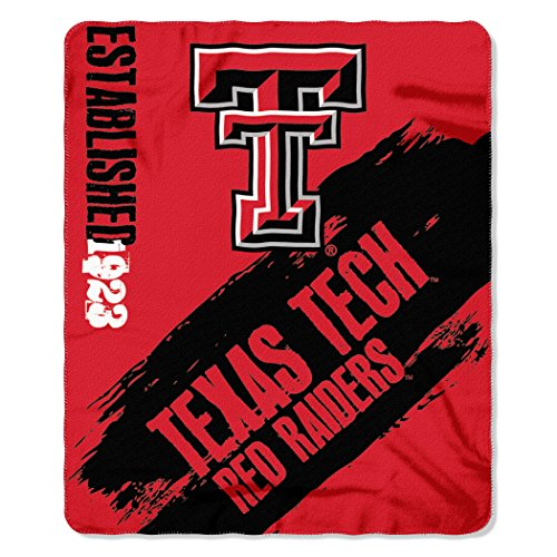 The Northwest Company Officially Licensed NCAA Texas Tech Red Raiders Painted Printed Fleece Throw Blanket, 50