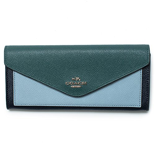 COACH Women's Soft Wallet In Colorblock Leather Sv/Navy Multi One Size by Coach