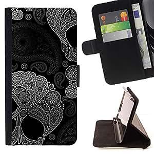 Momo Phone Case / Flip Funda de Cuero Case Cover - Indian Muerte del estampado de flores profundo - Samsung Galaxy S4 IV I9500