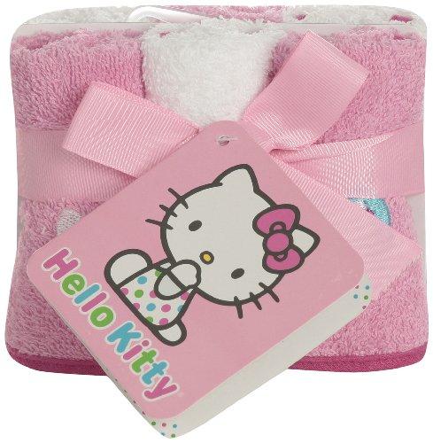 Bonjour Kitty infantile Débarbouillette Set, Blanc / Rose, 6 Piece