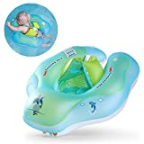 Image of Free Swimming Baby Inflatable Baby Swimming Float Ring Children Waist Float Ring Inflatable Floats Pool Toys Swimming Pool Accessories for the Age of 3-36 Months(Blue, L)