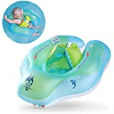 Free Swimming Baby Inflatable Baby Swimming Float Ring Children Waist Float Ring Inflatable Floats Pool Toys Swimming Pool Accessories The Age 3-36 Months(Blue, L)