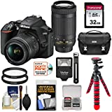 Nikon D3500 Digital SLR Camera & 18-55mm VR & 70-300mm DX AF-P Lenses with 32GB Card + Case + Flash + Tripod + Kit