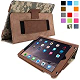 iPad Air 2 Case, Snugg™ - Smart Cover with Flip Stand & Lifetime Guarantee (Digital Camo Leather) for Apple iPad Air 2 (2014)