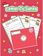Letter to Santa: Christmas Letter to Santa: a fun Kit Pack of 7 Fill in The Blank Letters with Red Envelopes & Stickers   Christmas gift for kids to write in Christmas Wishes to Santa.