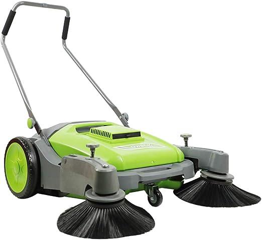 XLOO aspiradora con Escoba Verde, barredora para jardín, con Filtro de Polvo, Dos escobas giratorias, diámetro de Limpieza 92 cm, eficiencia de Trabajo 4600 m2 / H: Amazon.es: Hogar