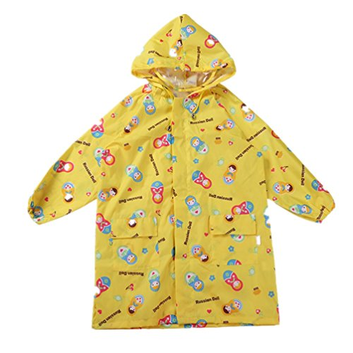 Children's cartoon raincoat poncho raincoat breathable,ye...