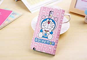 Free Shipping H Cute Cartoon Doraemon Pattern Leather Case Cover For Samsung Galaxy Note 3 Case N9005, N9002, N9006 Free Shipping