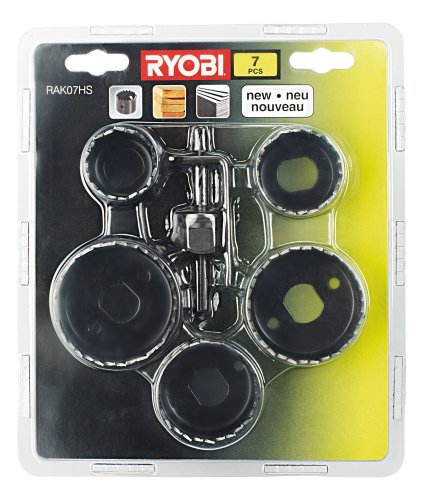 Ryobi RAK07HS Hole Saw Kit, 7 Piece
