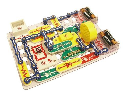 Snap Circuits PRO SC-500 Electronics Discovery Kit with Computer Interface & 73 Additional Experiments (Computer Circuits Snap)
