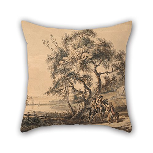 16 X 16 Inches / 40 By 40 Cm Oil Painting Paul Sandby - The Gypsy Fortune-Teller Throw Pillow Covers ,two Sides Ornament And Gift To Bf,seat,boys,gril Friend,teens -