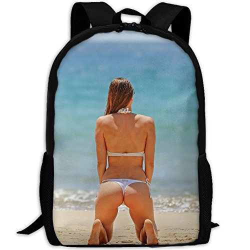 SARA NELL School Backpack Sexy Women On The Sea School Bookbag Casual Outdoor Daypack Travel Bag For Teen Boys Girls College Student by SARA NELL