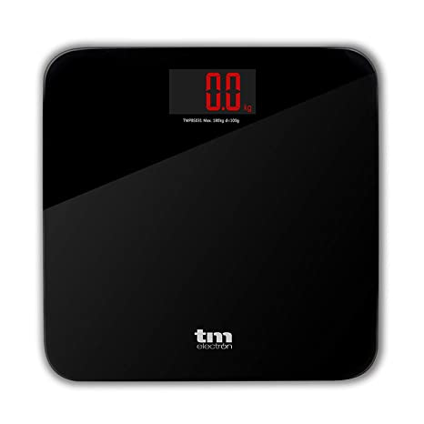 TM Electron TMPBS031 - Báscula de baño digital, display XXL retroiluminado, color negro