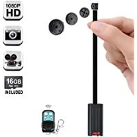 1080P HD Pequeña Encubierto Botón Cámara Espía Vídeo Grabadora con Funciones de Detección de Movimiento y Toma de Fotos, 6 Horas Video Grabación de Larga Duración