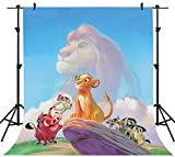 FHZON 5x7ft The Lion King Simba Backdrop Cartoon Anime Photography Background Themed Party YouTube Backdrop Photo Booth Studio Props GYFH252