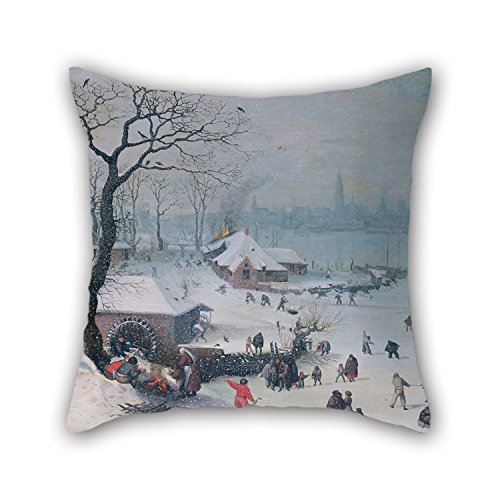 Ferdinand Best Chairs - Alphadecor Oil Painting Lucas Van Valckenborch - Winter Landscape With Snowfall Near Antwerp Pillowcover ,best For Boy Friend,him,deck Chair,office,son,bar Seat 20 X 20 Inches / 50 By 50 Cm(twice Si
