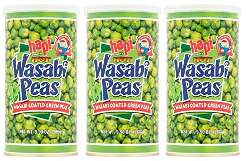 Hapi Snacks Wasabi Peas, Hot, 9.9 Oz (Pack of 3)