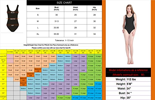 5a9a3a8f990 PINJIA Cute One Piece Swimsuit with High Cut and Low Back for Women Bathing  Suits