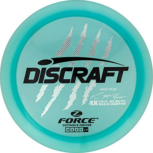 Discraft Limited Edition First Run Paul McBeth Signature Elite Z Force Distance Driver Golf Disc [Colors May Vary] - 173-174g