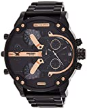 Diesel Men's Mr Daddy 2.0 Quartz Stainless Steel Chronograph Watch, Color: Black (Model: DZ7312)
