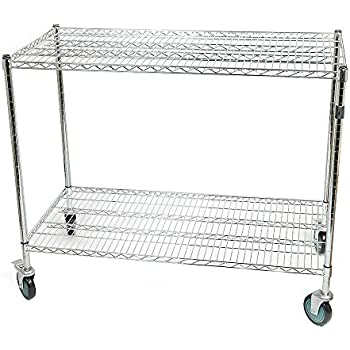 Wipick Large Warehouse Store Stock Picker Service Car Heavy Duty 1000 Lbs  Capacity 48x24.5x40