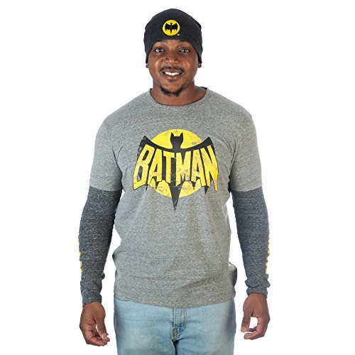 tman Long Sleeve Graphic T-Shirt & Beanie Combo - Large ()