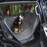 Kurgo Wander Dog Hammock Style Seat Cover for Pets, Pet Seat Cover, Dog Car Hammock - Water-Resistant, Khaki