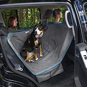 Kurgo Dog Hammock Car Seat Cover for Pets | Pet Seat Cover | Car Hammocks for Dogs | Water-Resistant | Wander | Heather | Journey | Half | Coast to Coast | Cars, Trucks, SUVs | Black | Grey | Khaki 39