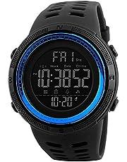 SKMEI 1251 Men's Digital Sports Watch Silicone Rubber Strap Wristwatch - Blue