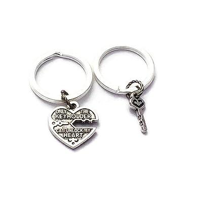 Amazon.com: kakupao Love candado de corazón y Set de llavero ...