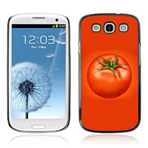 Designer Depo Hard Protection Case for Samsung Galaxy S3 / Cool Vegetable Tomato Design