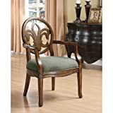 Fleur de Lis Accent Arm Chair For Guest Office Reception Kitchen Dining Room