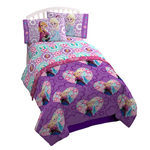 Disney Frozen Floral Microfiber Twin Bed-In-A-Bag