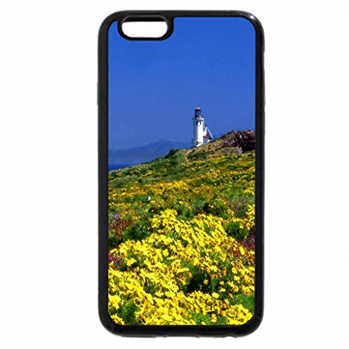 iPhone 6S / iPhone 6 Case (Black) Lighthouse springtime flowers